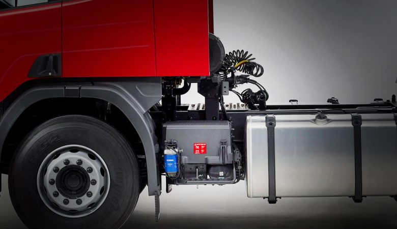 bateria de caminhões